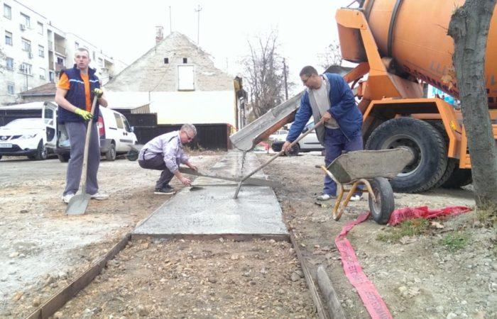 Betoniranje trotoara ugnovisad